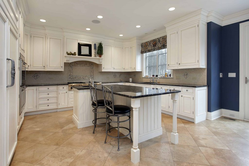 Gorgeous Macomb County luxury kitchen with granite island remodeled by FIX-IT
