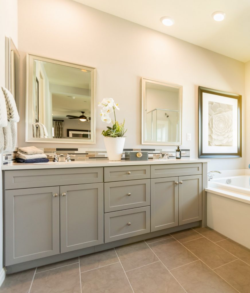 Remodeling and renovating of a master bathroom